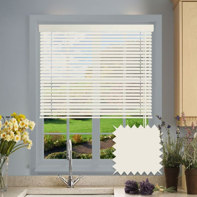 Textured Cream venetian blind - Just Blinds